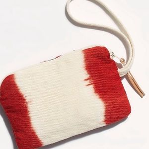 FREE PEOPLE  FUN FOR SPRING 2-SIDED RED/ IVORY BAG
